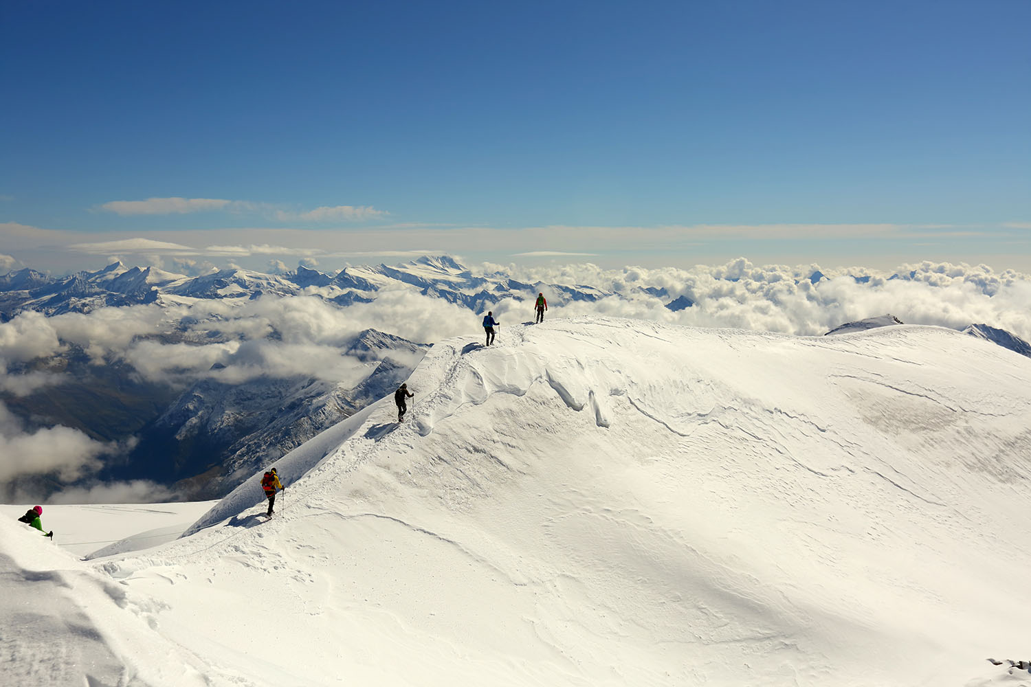 On a ski tour in Salzburger Lungau - the views alone are ample reward for the effort that went into the climb