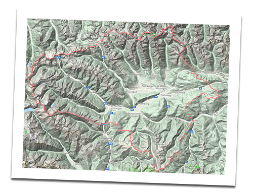 Interactive hiking map of Salzburger Lungau